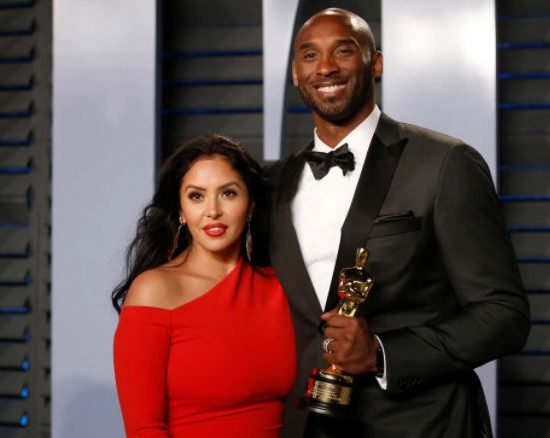 Vanessa Bryant and Kobe Bryant at the Vanity Fair Oscar Party in 2018
